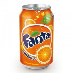 Fanta naranja lata 33 cl.