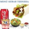 Menú kebab de ternera
