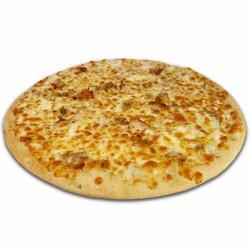 Pizza blanca de kebab familiar