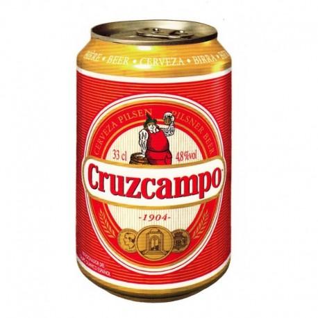 Cerveza Cruzcampo lata