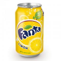 Fanta limón lata 33 cl.