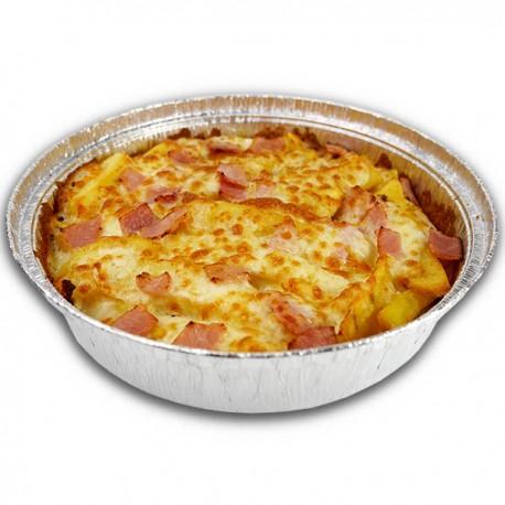 Patatas gratinadas con queso y bacon