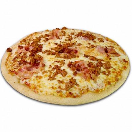Pizza crema de quesos