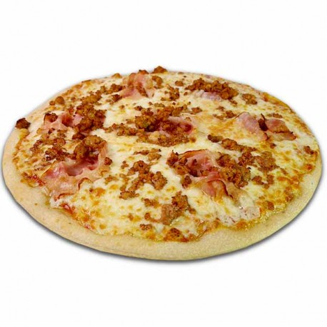 Pizza crema de quesos