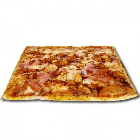 Pizza Barbacoa cuadrada + bebida o complemento