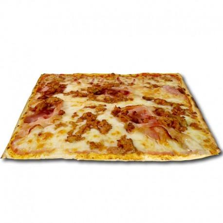 Pizza crema de quesos XXL + bebida o complemento